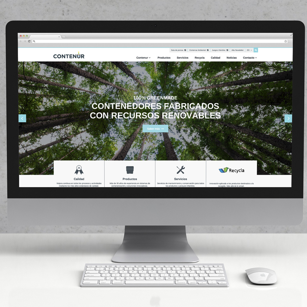Sitio web corporativo CONTENUR